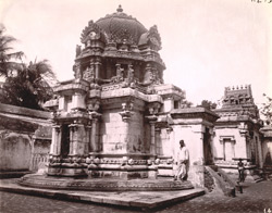 Rear elevation of the Shiva Temple at Perambalur
